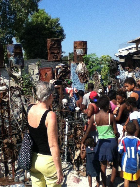Slums of Port au Prince Haiti