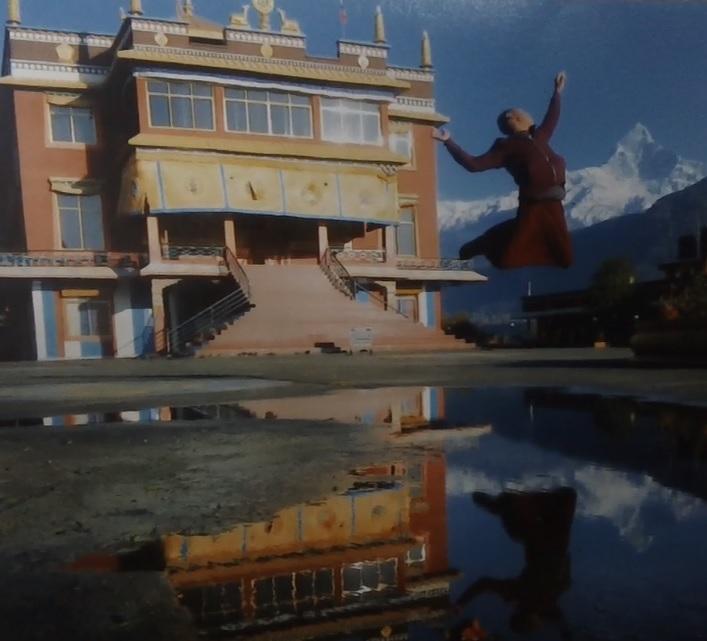 Sakya Buddhist Monastery in Pokhara, Nepal