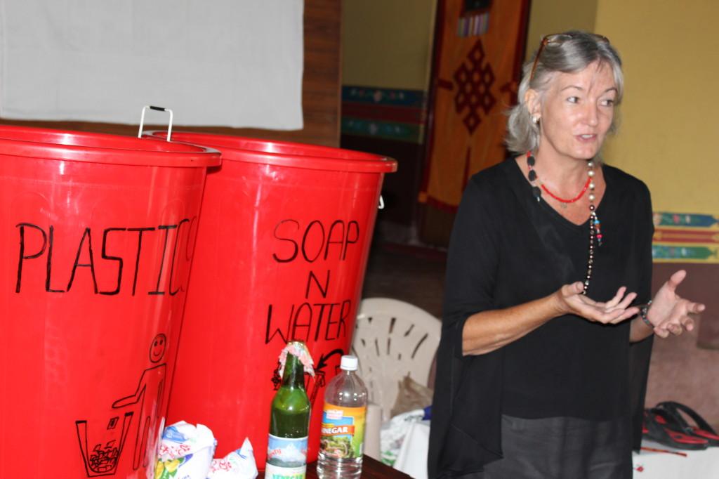 Repurposing Trash Lecture at Pema Ts'al Monastery