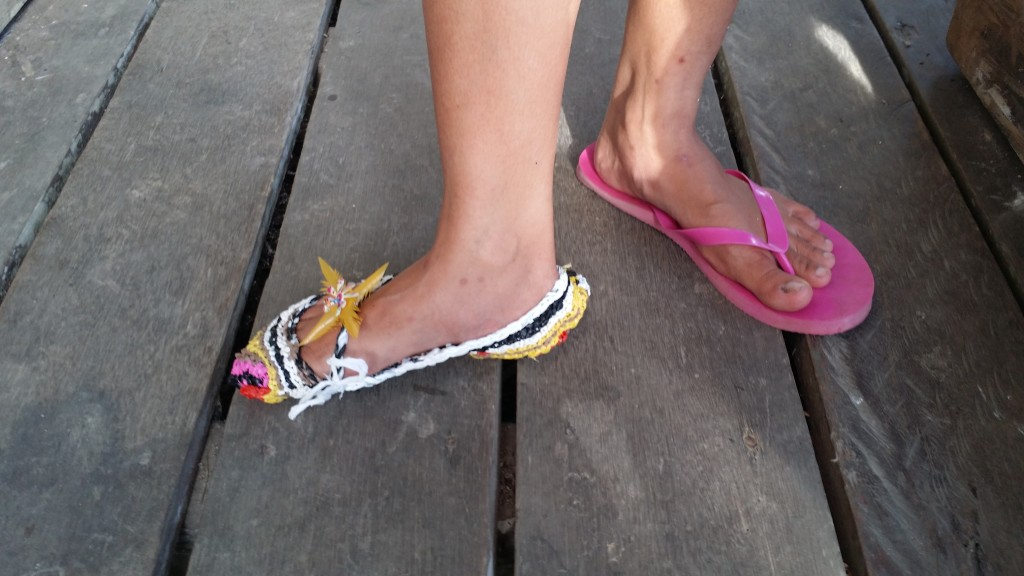 Plarn slippers