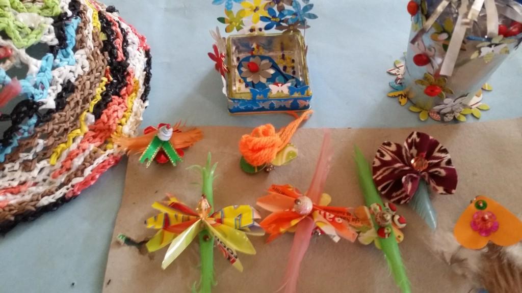 Examples of repurposed straws