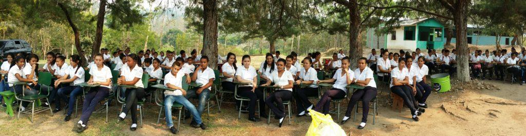 Students from the San Juan del Potrero Highschool